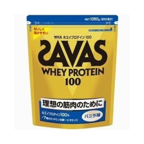 【送料無料】明治 ザバス SAVAS ホエイプロテイン100 バニラ 1050g×6個セット