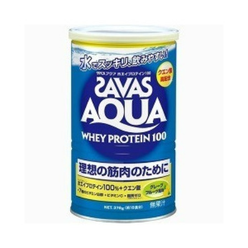 【送料無料】明治 ザバス SAVAS アクアホエイプロテイン100 グレープフルーツ味 378g×10個セット