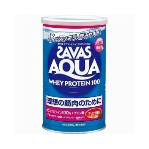 【送料無料】明治 ザバス SAVAS アクアホエイプロテイン100 アセロラ 378g 約18食入×10個セット