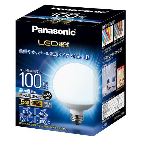 【送料無料】パナソニック 調光器非対応LED電球 (ボール電球形・全光束1370lm/昼光色相当・口金E26) LDG11D-G/95/W×6個セット