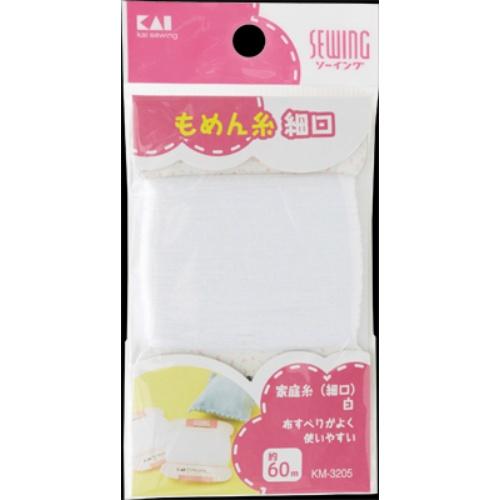 【送料無料】貝印 家庭糸 (細口) 白 60m KM3205×360個セット