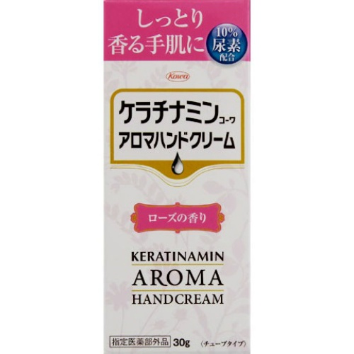 【送料込】興和新薬 ケラチナミン コーワ アロマハンドクリーム ローズ 30g×120個セット
