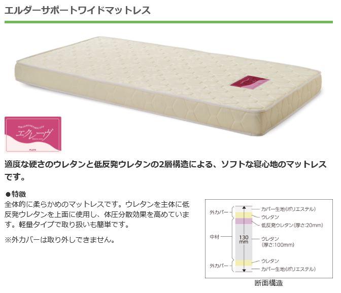 【介護ベッド用マットレス】エルダーサポートワイドマットレス(PSB-FS(4/4))