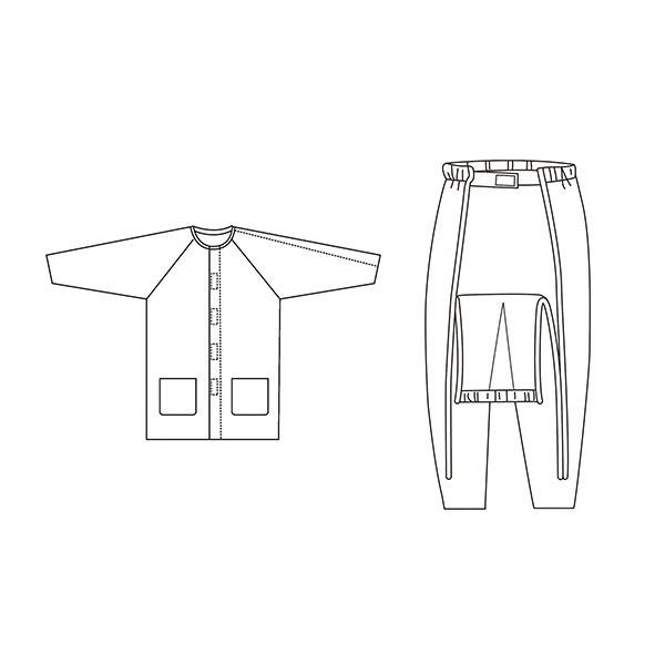 ハートフル肩開きパジャマセット秋冬用/HP04-HP08S01ピンク