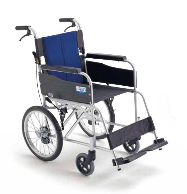 ミキ BALシリーズ BAL-2 軽量アルミ製 車椅子 介助型 11.4kg ノーパンクタイヤ 車いす 座幅40cm メーカー直送 法人送料無料