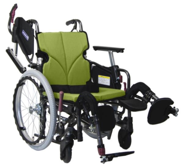 カワムラサイクル モダンC-STYLE (エレベーティング脚部) 自走用車いす 22インチ KMD-C22-(38/40/42/45)-EL-(M/H/SH)エアタイヤ 多機能タイプ メーカー直送 非課税