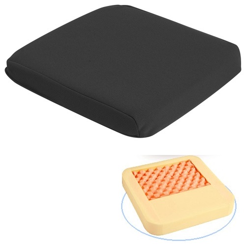 長時間の座位でお尻が痛くなる方におすすめ 座布団・クッション ゲルファースト 防水カバータイプ 色:ブラック アイ・ソネックス
