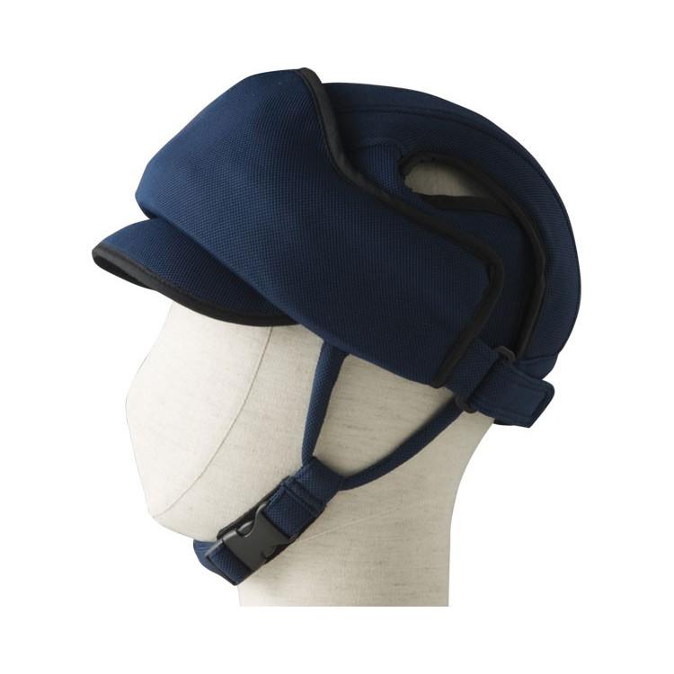 特殊衣料 前頭部 保護帽 アボネットガードE ネイビー 非課税 ※後頭部の緩衝力をお求めの方には適しておりません