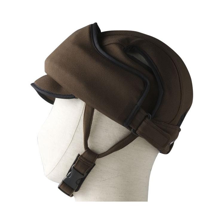 特殊衣料 前頭部 保護帽 アボネットガードE ブラウン 非課税 ※後頭部の緩衝力をお求めの方には適しておりません