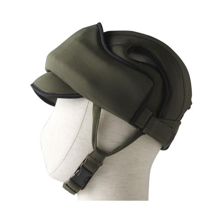 特殊衣料 前頭部 保護帽 アボネットガードE オリーブ 非課税 ※後頭部の緩衝力をお求めの方には適しておりません
