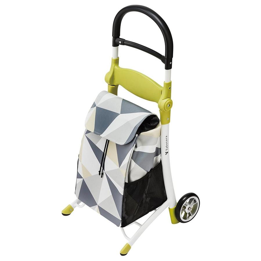 竹虎 座れる ショッピングカート スマイルキャリー 118001 色: グレー ハンドルを倒すことで、腰を掛けられる椅子に。