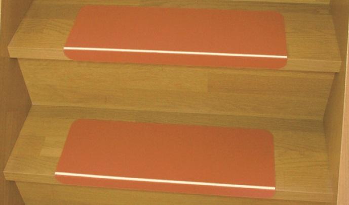 【ウィズ】 階段用滑り止めシート? 蓄光ライン入り (10枚入/ブラウン) (福祉/介護/すべり止め/ステップ/転倒予防/階段/住宅改修) 161-R0653