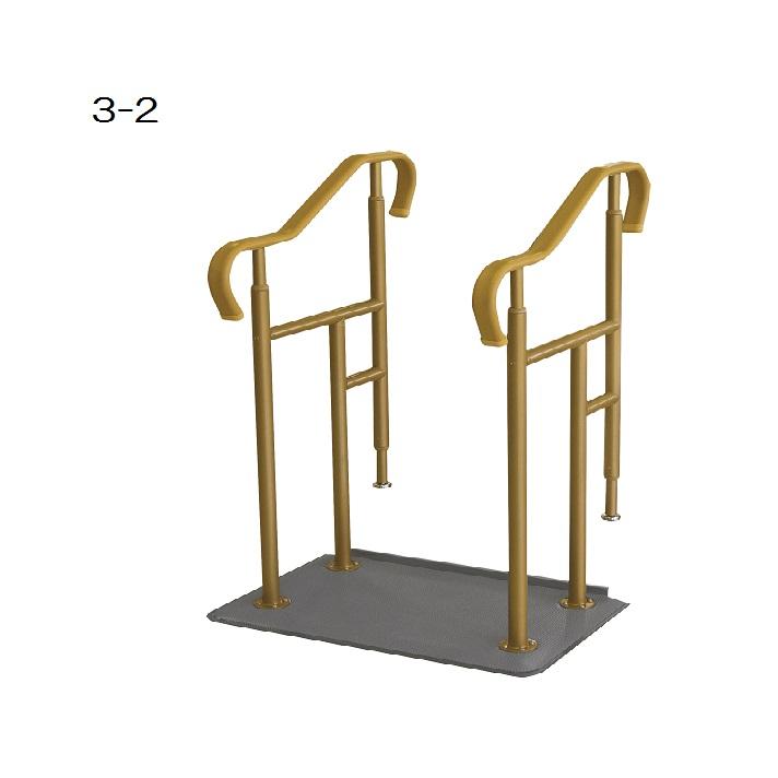 玄関用ベストサポート手すり 両手すり / 626-032 ロータイプ ベースプレートコンパクトタイプ シコク メーカー直送