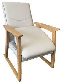 【明光ホームテック】人に頼らず、自分の力で立てる椅子 楽たて~る2 色:アイボリー 型番:FMN-リヨン メーカー直送品