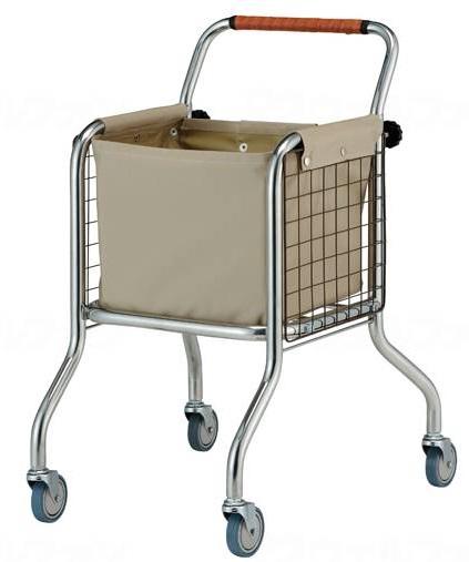 コンパクト設計のランドリーカート【星光医療器】アルコーランドリーカート 100608 メーカー直送・取寄 付属の袋は撥水加工しております