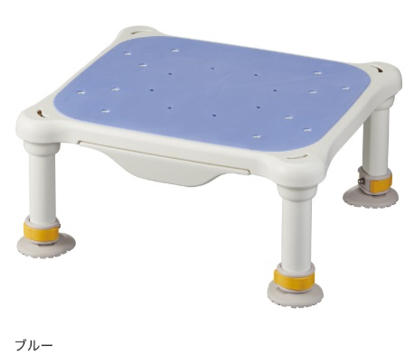 水切れがよく最軽量クラス、浴槽からの出し入れ楽らく【アロン化成】安寿 軽量浴槽台 すべり止めシートタイプ ジャスト サイズ:(高さ)12-20cm 色:ブルー