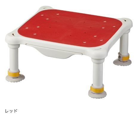 水切れがよく最軽量クラス、浴槽からの出し入れ楽らく【アロン化成】安寿 軽量浴槽台 すべり止めシートタイプ ジャスト サイズ:(高さ)16-26cm 色:レッド