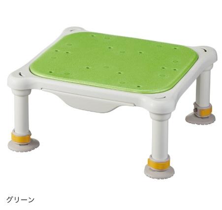 水切れよく最軽量クラス、浴槽からの出し入れ楽らく【アロン化成】安寿 軽量浴槽台 ソフトクッションタイプ ジャスト サイズ:(高さ)16-26cm 色:グリーン