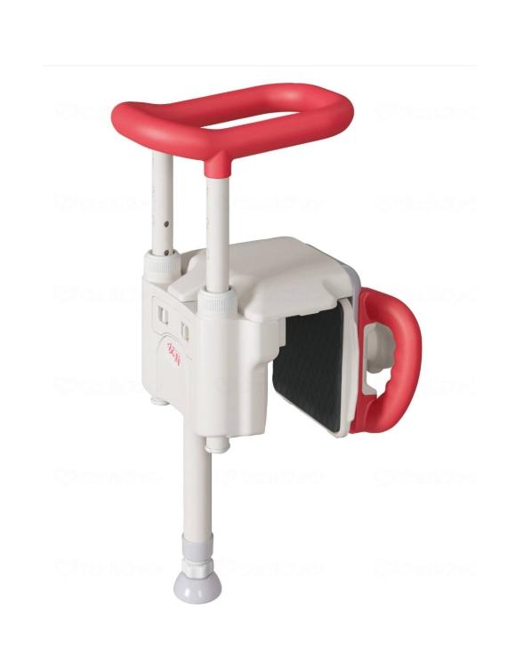【アロン化成】ユニットバス対応浴槽手すり UST-130UBショート 536-640 レッド
