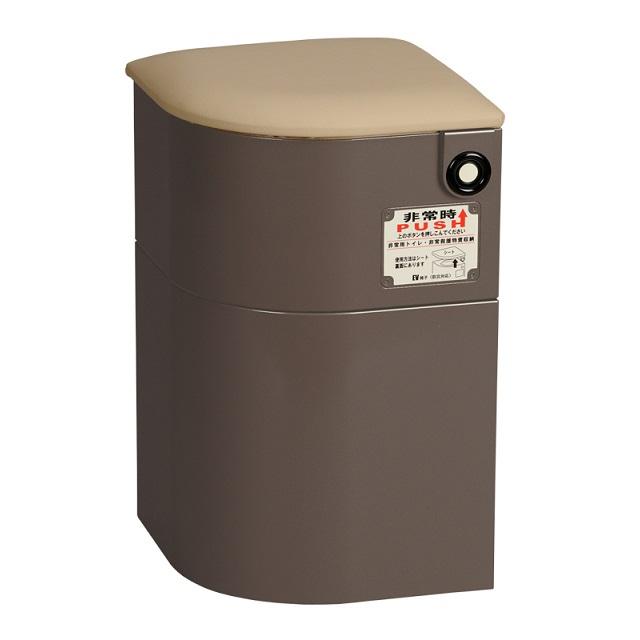 【送料無料(沖縄・北海道、一部地域除く)】 もしもの時にあるだけで心強いエレベーターの必需品 EV椅子(防災対応)・トイレ用品付 レザークッション 690-011-2 ブラウン メーカー直送 シコク