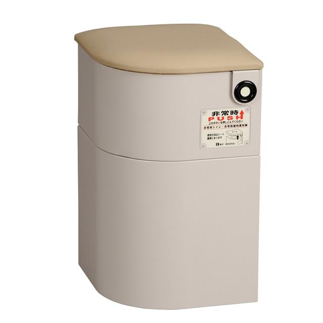 【送料無料(沖縄・北海道、一部地域除く)】 もしもの時にあるだけで心強いエレベーターの必需品 EV椅子(防災対応)・トイレ用品付 レザークッション 690-011-5 ベージュ メーカー直送 シコク