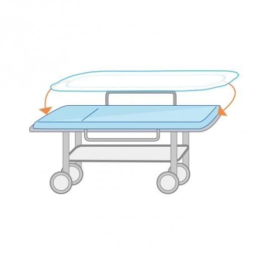 カバー自体が汚れたらすぐ交換できる使い捨てタイプ フェルラック ストレッチャーカバー 20枚入 076971 吸水/防水タイプ