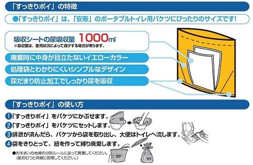 ポータブルトイレ用処理袋「すっきりポイ」30枚入