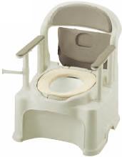 ポータブルトイレ きらく PY2型(やわらか便座)
