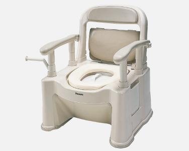 ポータブルトイレ【座楽】背もたれ型SP ソフト便座・便フタタイプ