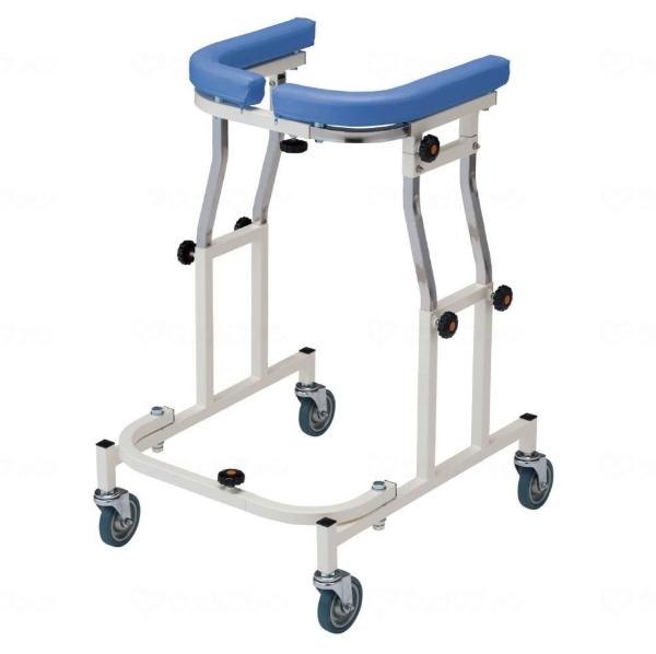 利用者の体型や身体状況に合わせて幅調整ができる【星光医療器】歩行器 アルコー12型 / 100344 室内 折りたたみ可 馬蹄型歩行補助器