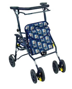 シンフォニーワイドSP(小タイプ)送料無料 ブルー/ブラウン 肘をハンドルに置いて押せます 【介護用品 歩行器】【介護 歩行車】