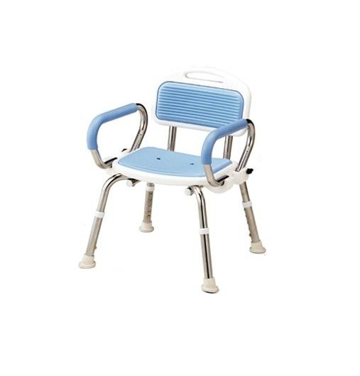 アルコーステンレスシャワーチェアーB / 100530 星光医療器製作所 4537711005308 入浴 介護 シャワーイス コンパクト ステンレス製 丈夫