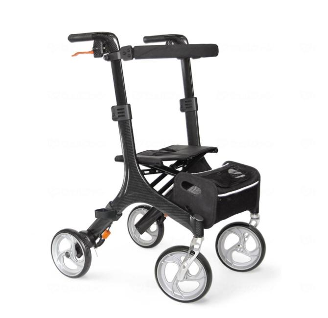 重量5.7kgのスタイリッシュなカーボン製歩行車 メーカー直送 発売モデル カワムラサイクル C'arco 売店 カルコ カーボン製フレーム KW50 歩行器 非課税 四輪歩行器