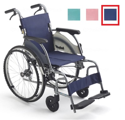 ミキ カルティマ 自走型 CRT-5 紺 (ネイビー) 座幅40cm 耐荷重100kg 車椅子 スリム コンパクト 軽量【非課税】メーカー直送