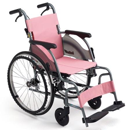 ミキ カルティマ 自走型 CRT-5 ピンク 座幅40cm 耐荷重100kg 車椅子 スリム コンパクト 軽量【非課税】メーカー直送