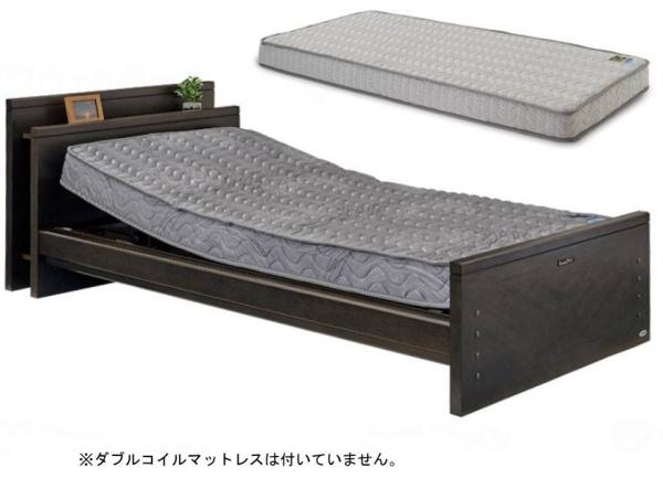 【介護ベッド】自立支援電動ベッド ケアレット・ドルーチェ・1モーター(宮付ボード)ポケットコイルマットレス