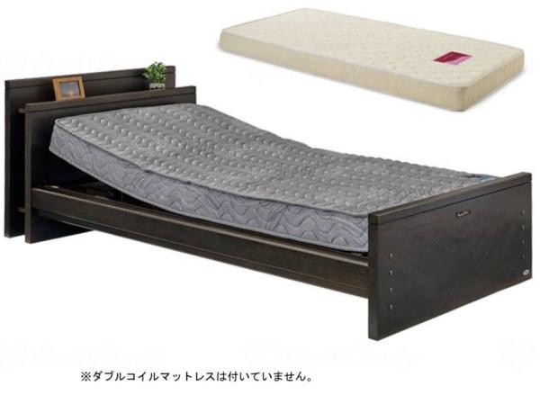 【介護ベッド】自立支援電動ベッド ケアレット・ドルーチェ・1+1モーター(宮付ボード)エルダーサポートマットレス