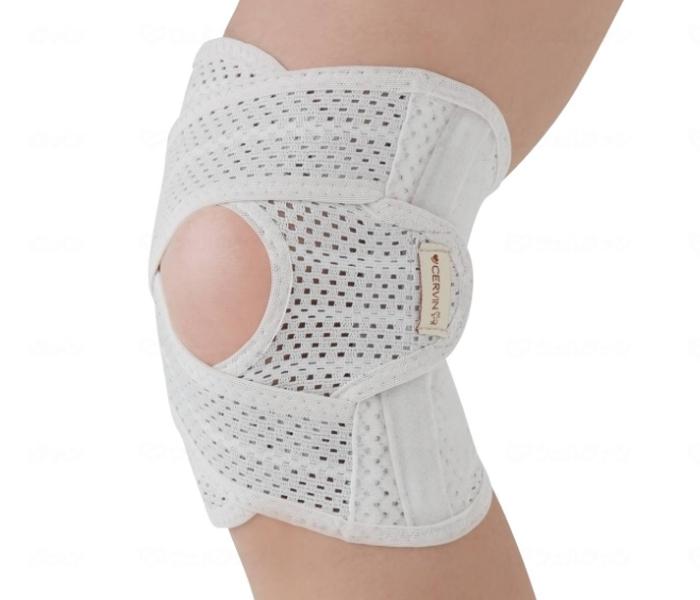 ダブルのベルトでしっかり固定 お中元 軽量メッシュクロスサポーター膝用 数量限定
