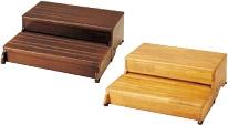 木製玄関台 2段タイプ 60W-30-2段 / 535-586【安寿 アロン化成】住宅建材
