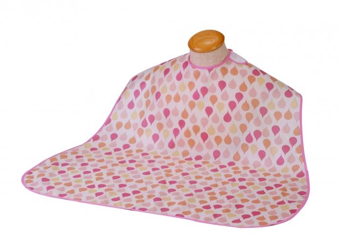 生地がやわらかく 時間指定不可 至高 摩擦音の少ないエプロン 竹虎 メール便対象品 全国送料無料 ソフラピレンエプロン 食事用エプロン フラットタイプ オレンジ しずく柄