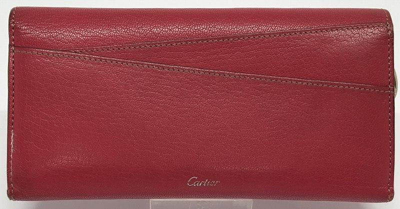 中古 Cartier メーカー公式 カルティエ 二つ折り 長財布 NEW ARRIVAL レターレ