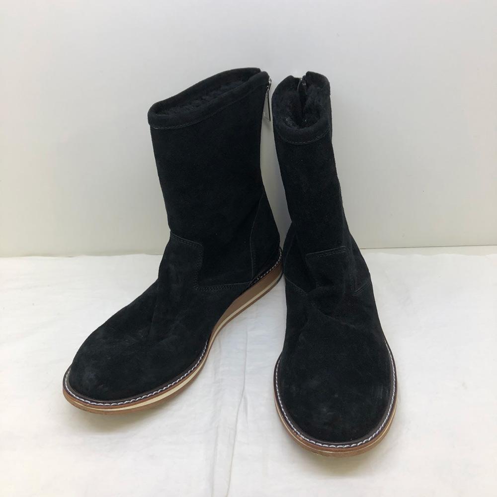 【中古】wjk zip mouton ジップ ムートンブーツ ブラック サイズ41 約25.5cm 【橿原店】【H】