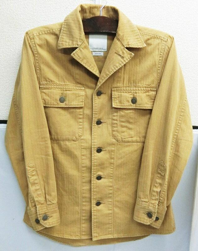 【中古】visvim/ビズビム 2015AW WILLARD SHIRT JKT ヘリンボーン シャツ ジャケット 【ベージュ】【サイズ:1】【送料無料】【メンズ古着】【出雲店】