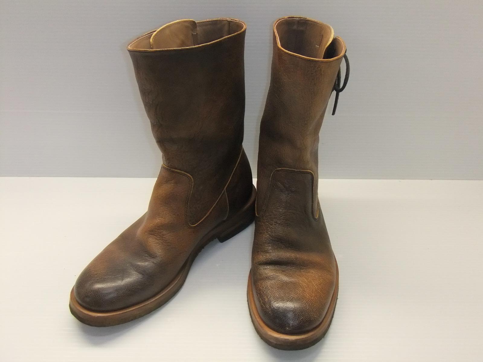 gmf-190909009001 中古 MOTO モト 新生活 サイドレース ペコスブーツ レザーブーツ 靴 約25~25.5cm ブーツ 数量は多 米子店 サイズ1