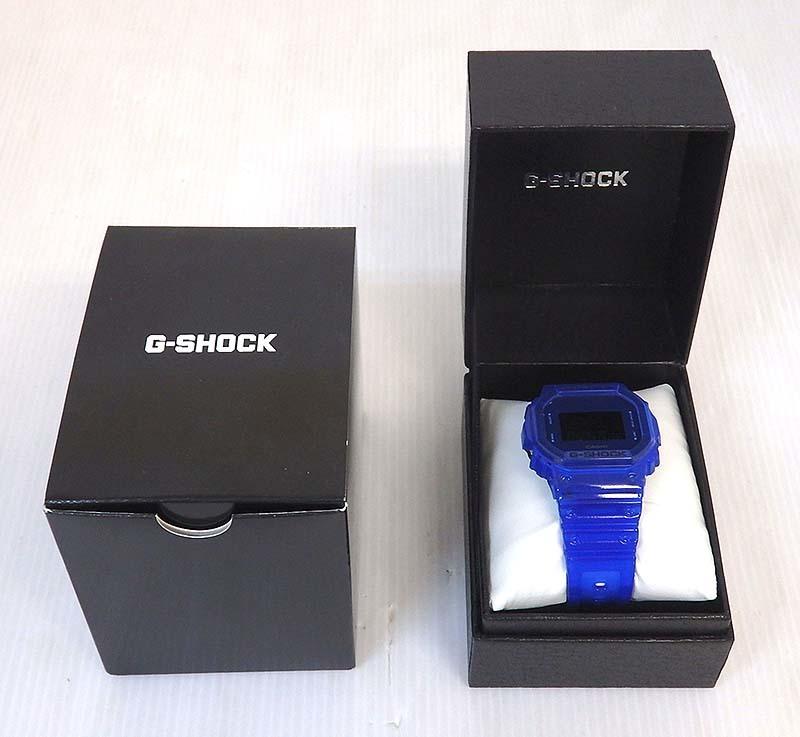 米子店は注文確定から1~3日程度で発送致します 中古 G-SHOCK G-ショック DW-5600SB ※ラッピング ※ カラースケルトンシリーズ ブルー カシオ 格安 価格でご提供いたします CASIO クォーツ 腕時計 米子店 デジタル