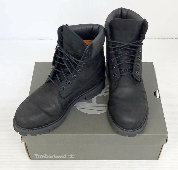 【中古】Timberland/ティンバーランド/アイコン 6インチ プレミアムブーツ/ブラック【靴/ブーツ】【米子店】