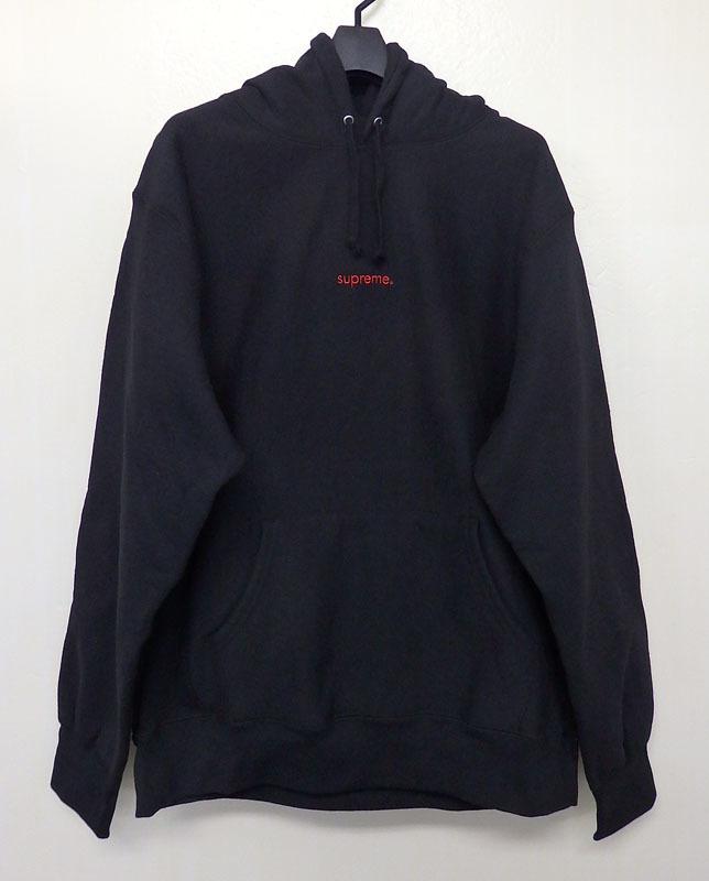 【中古】Supreme/シュプリーム/18AW Trademark Hooded Sweatshirt/パーカー/半タグ付/ ブラック/サイズ:XL【メンズ古着】【米子店】