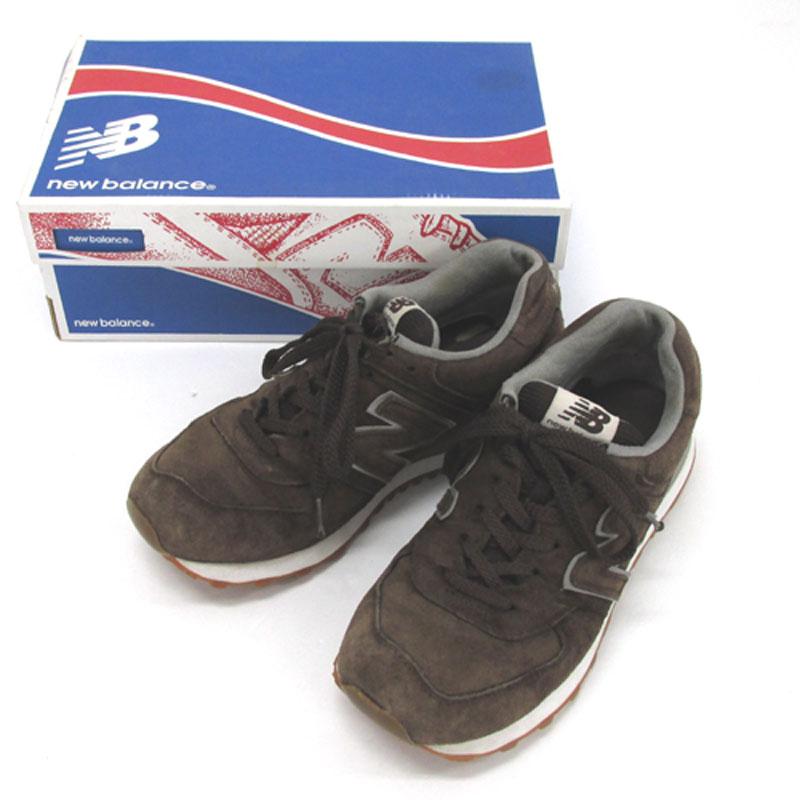 【中古】【メンズ古着】NEW BALANCE ニューバランス ML574 FSB サイズ:26.5/ブラウン/スニーカー/靴 シューズ【山城店】