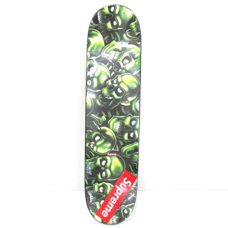 【中古雑貨】《未開封》Supreme シュプリーム SKULL Pile Skateboard スカル ピル スケートボード カラー:ブラック×グリーン/18SS【スケボー】【山城店】