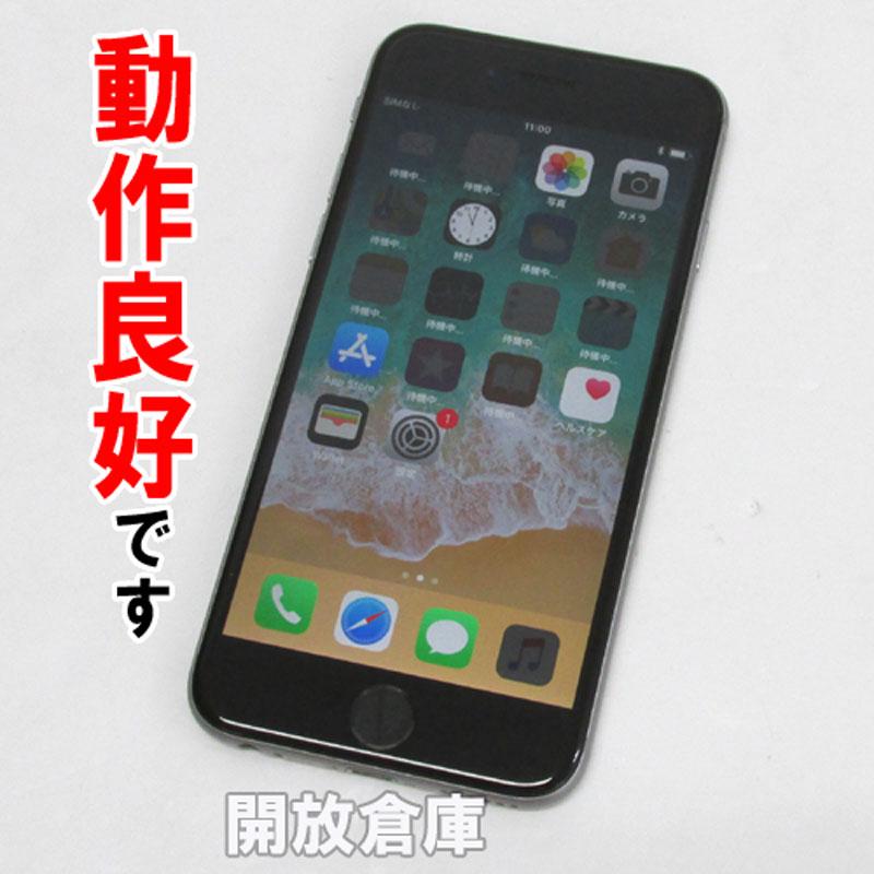 【中古】 au Apple iPhone6 64GB MG4F2J/A スペースグレイ【白ロム】【352032079586530】【利用制限: ○】【iOS 11.3.1】【スマホ】【山城店】